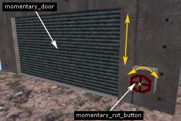 Создаем дверь momentary_door и вентиль momenatry_rot_button